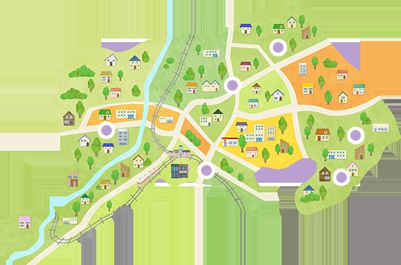 坂戸商店街マップ